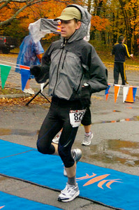 Chris Yarsevich of Saratoga Springs was the first male finisher of the Great Pumpkin Challenge 10K. Ed Burke 10/24/09