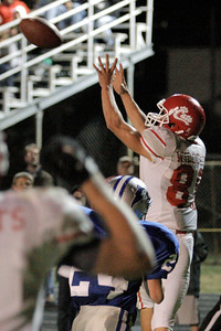 Josh Jackson/The Times-Standard  Cats' #88 makes the touchdown catch during Friday's game in Fortuna.