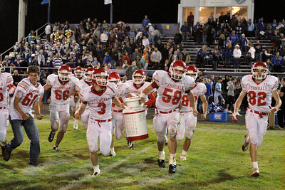 Josh Jackson/The Times-Standard  The Ferndale Wildcats carry the Milk Can after winning Friday's game in Fortuna.