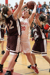 Josh Jackson/The Times-Standard  Wildcats' Celia Hansen looks for the shot during Saturday's game in Ferndale.