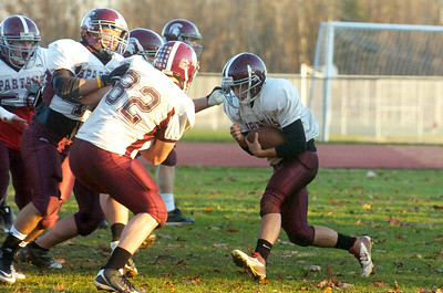 Burnt Hills-Ballston Lake Varsity football team during practice on Monday afternoon. This week they will be competing in the Championships in Syracuse. Photo Erica Miller 11/21/11 spt_BHBLprac2_Wed