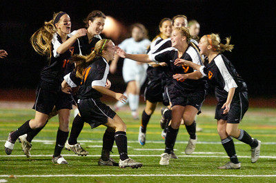 Bethlehem girls celebrate after their first goal during their Section II Class A Championship game against Shenendehowa. Photo Erica Miller 11/9/11 spt_ShenBeth5_Thur