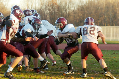 Burnt Hills-Ballston Lake Varsity football team during practice on Monday afternoon. This week they will be competing in the Championships in Syracuse. Photo Erica Miller 11/21/11 spt_BHBLprac3_Wed