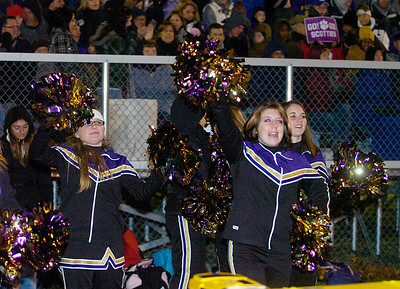Ballston Spa cheerleaders cheer on the Scotties. Ed Burke 11/6/09