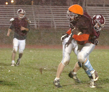 Burnt Hills Ballston Lake Varsity Football team practices Wednesday evening in anticipation for their big game Saturday evening at the Carrier Dome in Syracuse. Photo Erica Miller 11/25/09 spt_pracBHBL2_Sat