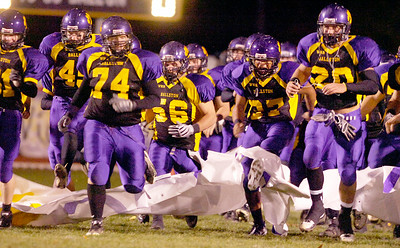 Ballston Spa players enter the field for their semifinals football game against Shenendehowa Friday evening at Ballston Spa. Photo Erica Miller 10/29/10 bspa_BspaShen1