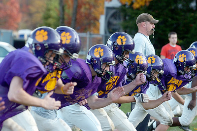 Ballston Spa Head Coach John Bowen blows the whistle for sprinting drills during practice Tuesday afternoon, Friday will be their sectional semi-final against Shenendehowa. Photo Erica Miller 10/26/10 spt_BspaPrac1_Fri