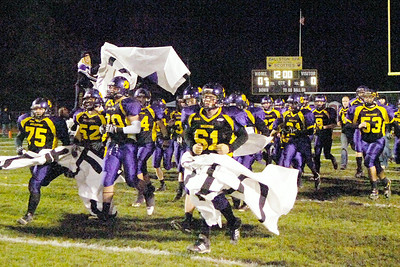 The Ballston Spa Scotties take to the field for Friday's game against Schenectady. Ed Burke 10/22/10