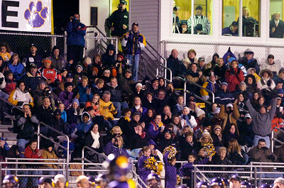 Fans cheer as Ballston Spa scores their second touchdown during their semifinals football game against Shenendehowa Friday evening at Ballston Spa. Photo Erica Miller 10/29/10 bspa_BspaShen3
