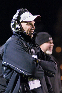 Burnt Hills Head Coach Matt Shell. Photo Eric Jenks 11/6/10