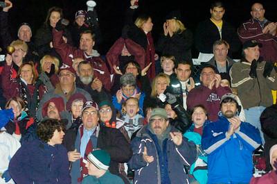 Burnt Hills-Ballston Lake Fans cheer on the Spartans Friday in Kingston. Ed Burke 11/20/09