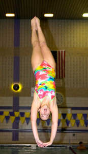 Ballston Spa diver Nicole Kverek practices Wednesday at the high school's pool. Ed Burke 11/18/09
