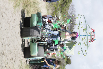 Shaun Walker/The Times-Standard  Visualize Whirled Peas heads down a dune at the Kinetic Grand Championship on Saturday.