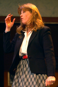 Myra Bruhl played Monica Cangero during their dress rehearsal of Deathtrap, as part of the HMT at the Spa Little Theater. Photo Erica Miller 2/8/10 fea_Deathtrap5