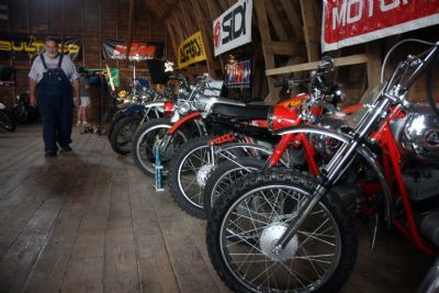 Motorcycle museum at Jim Hoellerich's Farm -090211