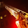 Zachary P. Stephens/Reformer<br /> Firefighters from the Brattleboro Fire Department work to extinguish a fire in the historic Brooks House building on the corner of High and Main Streets in Brattleboro.