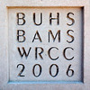 The cornerstone of the new and improved BAMS, BUHS, and WRCC is seen Tuesday. (Jason R. Henske/Reformer)