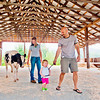 Chris Bertelsen / Reformer<br /> Mark Donahue helps his 19 moth-old daughter Lydia lead Jazzy the Holstein heifer around one of the barns at the Guilford Fair on Sunday with help from Jazzy's owner Megan King.