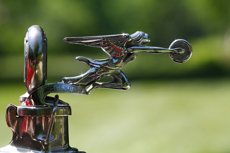 This hood ornament was found atop a 1926 Packard at the Chesterwood Antique Automobile Show in Stockbridge on Sunday.  Stockbridge, 5/30/10 - Ian Grey