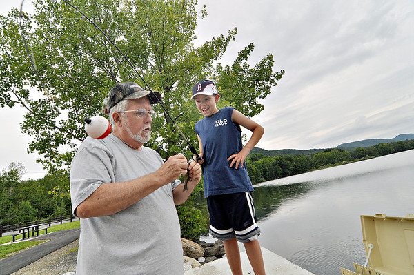 Fishing at Cheshire Lake