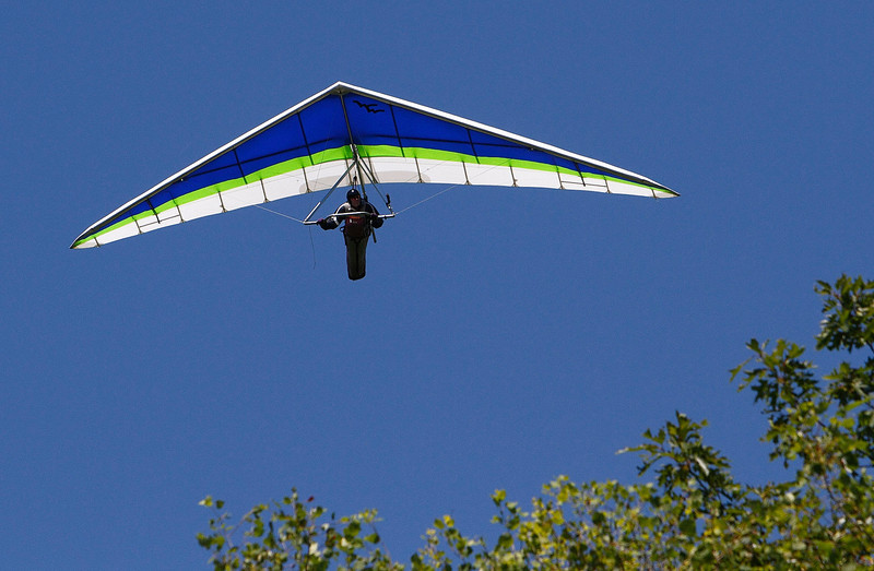 This hang glider was spotted over the west side of Florida Mountain on Saturday afternoon.  North Adams, 7/3/10 - Ian Grey