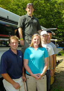 (front) Saratoga coach Matt Brady, Donica Nalbert, Drew Kroftm and Mike Meier and Chris Austen of Shenendehowa (top), the fresh faces of crew. Photo Erica Miller 5/28/10 spt_FreshFaces_Fri