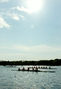 Rowers head out to Saratoga Lake docks to a test run after arriving in preparation for the Scholastic Rowing Association of America National Championship Regatta Friday and Saturday. Photo Erica Miller 5/28/10 news_Regatta4_Fri