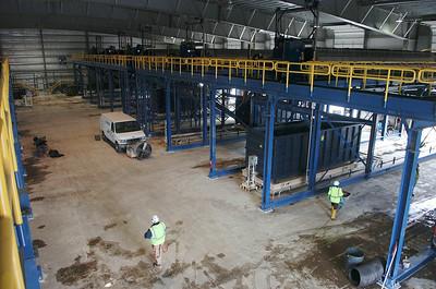 A look inside the filter-press building. photo Rick Gargiulo news_dredg3_fri 4/30/09