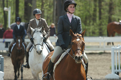 Horses and riders warm-up prior to competition in the annual St. Clement's Horse Show n the Yaddo Grounds on Union Ave. photo rick Gargiulo news_horseshow3_thu 4/29/09