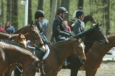 Contestants line up during competition at the annual St. Clement's Horse Show at the Yaddo grounds on Union Ave. The show runs until May 3. photo Rick Gargiulo news_horseshhow2_thu 4/29/09