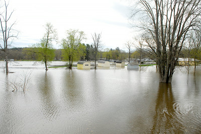 That Fort Hardy Park just off Route 4 in Schuylerville where the entire park is completely submerged underwater as flooding occurring on the Hudson River. Photo Erica Miller 4/29/11 news_Flooding2_Sat