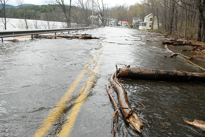 Bay Road in Lake Luzerne was closed due to an overflow of the Hudson River as flooding occurred for the second day. Photo Erica Miller 4/29/11 news_Flooding5_Sat