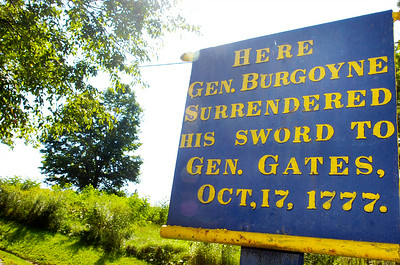 The location where General Burgoyne surrendered his sword to General Gates October 17th 1777 that will be rehabbed by federal grant. Photo Erica Miller 8/30/10 news_LandGrant1_Tues