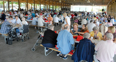 The Saratoga County Annual Senior Picnic was held at the Saratoga County Fairgrounds this afternoon, as hundreds enjoyed free lunch. Photo Erica Miller 8/30/11 fea_SeniorPicnic1