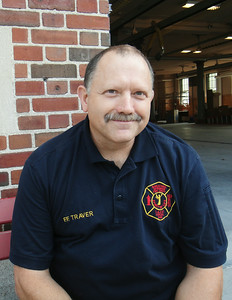 Newt Traver, Saratoga Springs Firefighter. Photo Paul Post 8/29/12 TraverNewt