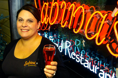 Mary Connolly Fabiani manager and bartender of Sabina's Wood Fired Restaurant on Union Ave. Photo Erica Miller