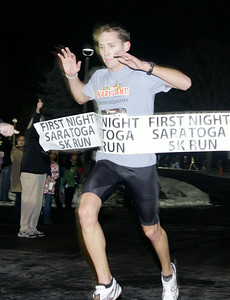 Greg Kelsey of Saratoga Springs finishes first overall. Ed Burke 12/31/10