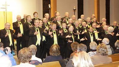 Members of the Racing City Chorus perform at St. Peter's Catholic Church. Ed Burke 12/31/10