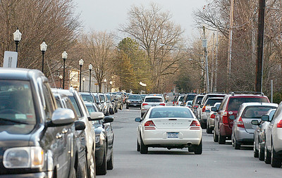 Traffic along Vanderbilt Ave. looking south near the Saratoga Springs Recreation Center. Ed Burke 12/28/11