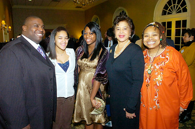 From left: Saratoga County NAACP President Sam Perkins, Student scholarship winners Kala Crawford and Anea Isom, keynote speaker retired NYS Supreme Court Justice Laura D. Blackburne and SCNAACP 2nd Vice-President Dora Stanley. Ed Burke 1/30/10