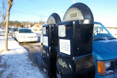 Parking meters line the streets of Lake George. Photo Erica Miller 1/29/10 news_ParkingMeter1_Sun