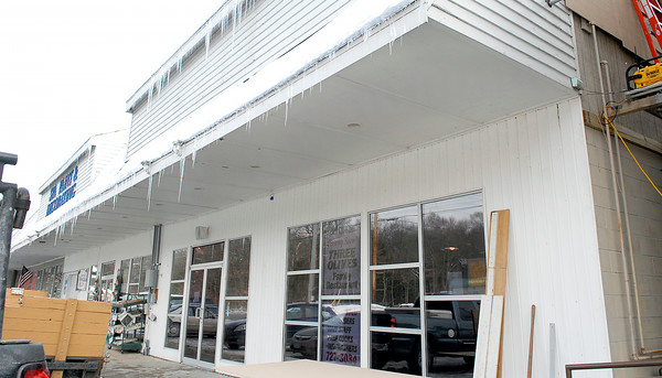"This new restaurant called ""Three Olives"" under construction in Ballston Spa. Photo Erica Miller 1/28/11 news_ThreeOlives_Mo"