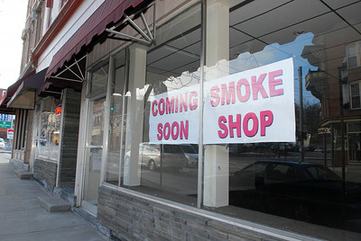 An new smoke shop will be coming to downtown Ballston Spa on Doubleday Ave. Photo Erica Miller 1/30/12 SmokeShop