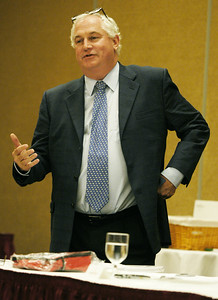 NYRA President Charles Hayward spoke at the Saratoga Race Course Advisory Board Monday afternoon at the Holiday Inn concerning the goals for the board with NYRA and Saratoga. Photo Erica Miller 7/20/09 news_AdvBoard1_Tues