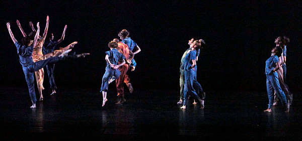"""Dancers from the Mark Morris Dance Group performed Monday evening at SPAC, shown are dancers from the performancec """"Bedtime."""" Photo Erica Miller 7/20/09 fea_MarkMorris1_up"""
