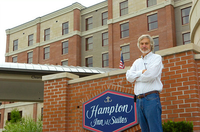 Mike Hoffman, owner of the Hampton Inn on Lake Avenue, who also owns several other hotels in the area. Photo Erica Miller 7/23/09 news_Hoffman1_Fri