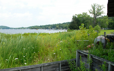 """Brown's Beach closed at Saratoga Lake where the Saratoga Springs City owned lake front property that they """"will be renovating."""" Photo Erica Miller 8/1/11"""