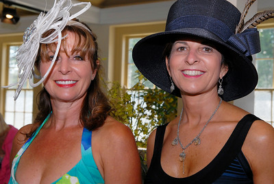 Joanne Wheelock (left) and Eileen Guarino attend Tuesday afternoon's Fashionable Fillies Luncheon at the National Museum of Dance and Hall of Fame for a benefit of the Museum and the Jockey Club Foundation. Photo Erica Miller 8/2/11 fea_FashionFillies1_Fri