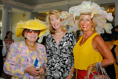 (L-R) Virginia Kraft Payson, Holly Sofarelli and Margie Rotchford attended Tuesday afternoon's Fashionable Fillies Luncheon at the National Museum of Dance and Hall of Fame for a benefit of the Museum and the Jockey Club Foundation. Photo Erica Miller 8/2/11 fea_FashionFillies3_Fri