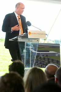 GlobalFoundries FAB8 Vice President and General manager Norm Armour spoke at the  Saratoga Technology and Energy Park ground breaking ceremony of their newest administrative building on FAB8 campus. Photo Erica Miller 6/30/11 news_GloFoAdmin4_Fri